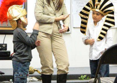 Safari Lady with Pharoah and Roman Soldier: